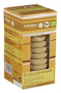 Ciasteczka kruche bio b/g 150 g - schnitzer