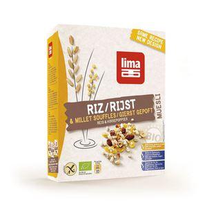 Bezglutenowe musli ryżowo-jaglane bio 250g-lima