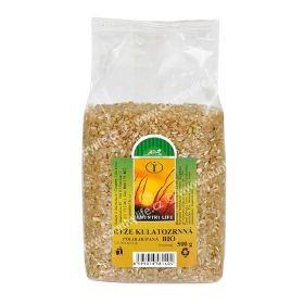 Ciemny okrągły ryż bio