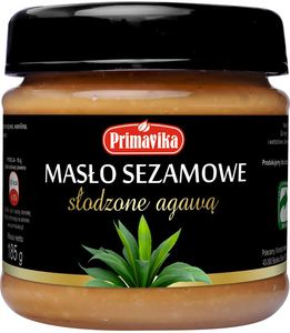 Masło sezamowe słodzone agawą 185g-primavika