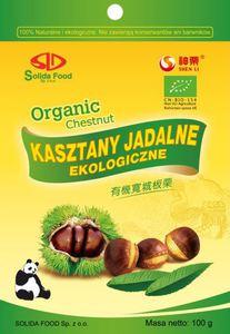 KASZTANY JADALNE (GOTOWANE) BIO 100g - SOLIDA FOOD