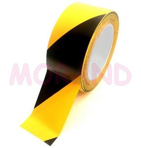 Taśma oznaczeniowa PVC żółto-czarna 50/33/017