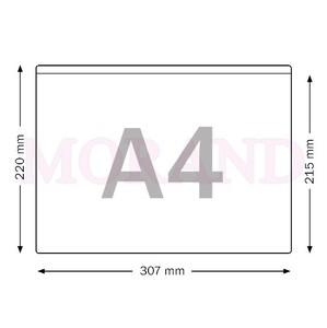 Kieszeń samoprzylepna foliowa obniżona A4 poziom