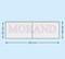 Podwójna samoprzylepna kieszeń na wizytówki obniżona 190x60/55 poziom
