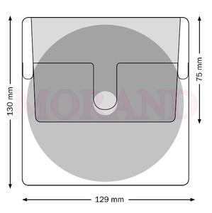 Kieszeń samoprzylepna na CD z klapką 129X130