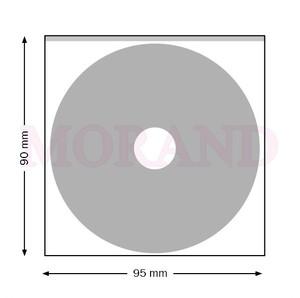 Kieszeń samoprzylepna na MINI CD 95x90