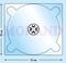 Pudełko na CD 137x124 biały połysk