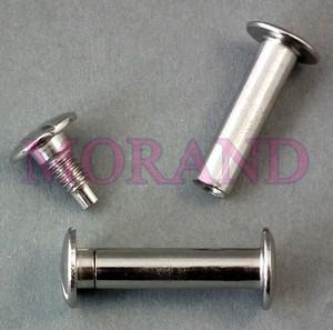 Śruba introligatorska metalowa srebrna 14
