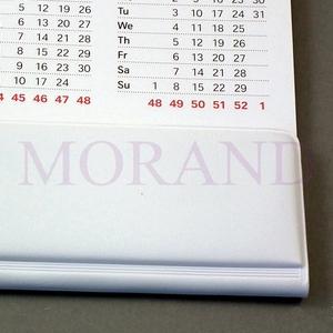 Listwa biała samoprzylepna do kalendarza 594 mm