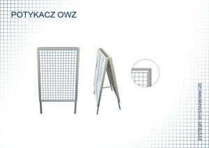Aluminiowy stojak potykacz do plakatów A2