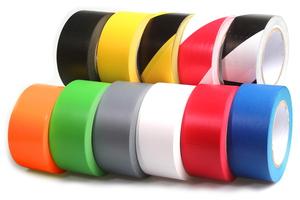 Taśma oznaczeniowa PVC biało-czerwona 50/33/017