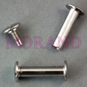 Śruba introligatorska metalowa srebrna 31