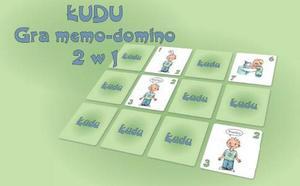 """Gra memo-domino  2w1 """"Łudu"""" .  Opracowanie: Iwona Abi Issa"""