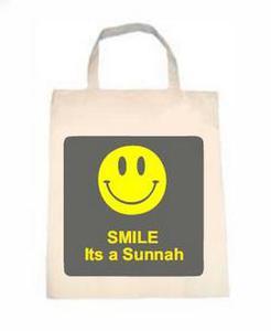 "Torba ekologiczna z długim uchem ""Smile it's Sunnah"""