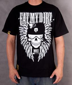 T-Shirt EAT MY DIRT Skullwings (czarny)