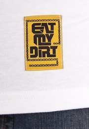 T-Shirt EAT MY DIRT Patch (biały)