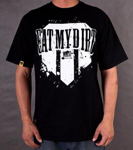 T-Shirt EAT MY DIRT Patch (czarny)