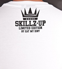 T-Shirt EAT MY DIRT Skillz Up (biały)