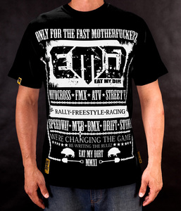 T-Shirt EAT MY DIRT For Fast (czarny)