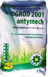 OGRÓD 2001 ANTYMECH NAWÓZ 25kg do TRAWY TRAWNIKA