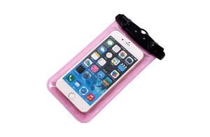 Etui, futerał wodoodporny do smartfona i iPhone RÓŻOWY, model FS-01
