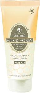Kozmetika Afrodita Maska odżywczo-regenerująca z miodem i mlekiem 250 ml