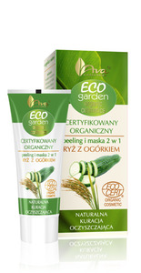 AVA Eco Garden peeling i maska 2w1 z ryżem i ekstraktem z ogórka 30 ml Ecocert