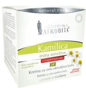 Kozmetika Afrodita Camomile - Krem Extra Sensitive 24h 50 ml