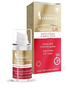 Kozmetika Afrodita NATURAL LIFTPrzeciwzmarszczkowy krem pod oczy 15 ml