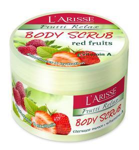L'ARISSE Body Scrub czerwone owoce i witamina A - wygładzenie nawilżenie, 250 g