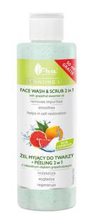 AVA Cleansing Line ŻEL MYJĄCY DO TWARZY + PEELING 2 w 1 z naturalnym olejkiem grapefruitowym  200 ml