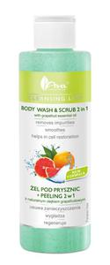 AVA Cleansing Line ŻEL POD PRYSZNIC + PEELING 2 W 1 z naturalnym olejkiem grapefruitowym  200 ml