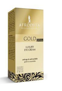 Kozmetika Afrodita Gold 24 Krem pod oczy z 24ka złotem 15 ml