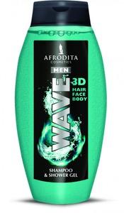 Afrodita MEN MEN WAVE - Żel pod prysznic i szampon do włosów 250 ml