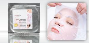 Perłowa, rozjaśniająca nanotechnology maska  MedBeauty