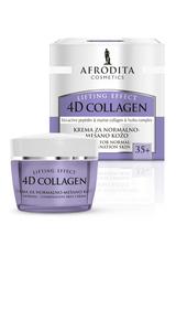Afrodita Collagen 4D - Krem dla skóry normalnej i mieszanej 50 ml