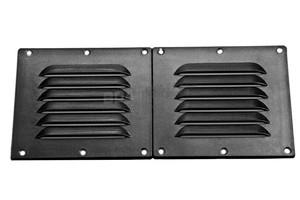 Kratka wentylacyjna PCV Podwójna  225mm X 115mm Czarna