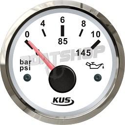 Wskaźnik ciśnienia oleju KUS SeaV 0-10 Bar