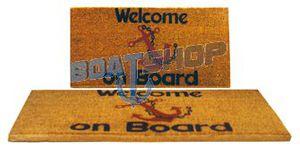 """Wycieraczka z włókna kokosowego z napisem """"WELCOME ON BOARD"""" 37x70 cm"""