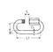 Ogniwo skręcane podłużne Ogniwo skręcane podłużne 6 mm