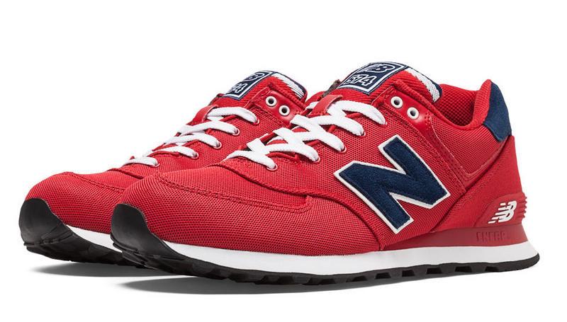 new balance 574 męskie czerwone