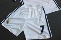 Dziecięcy zestaw piłkarski REAL MADRYT home 16/17 ADIDAS (koszulka+spodenki) #7 RONALDO