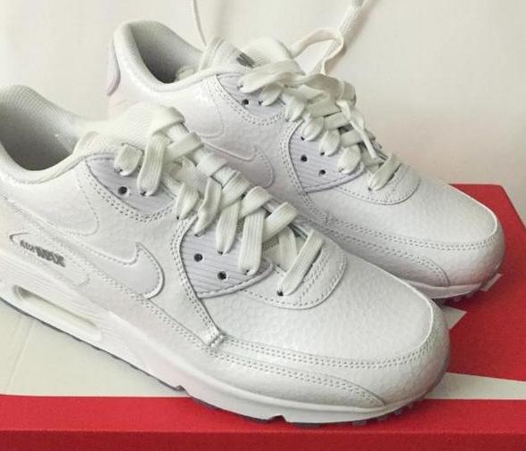 Buty Wmns Nike Air Max 90 Premium 443817 100 białe