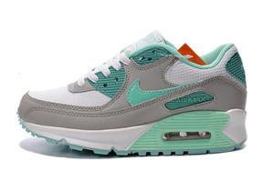 Buty damskie Nike Air Max 90 302519-103 szare/seledynowe