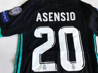 Zestaw piłkarski REAL MADRYT 17/18 Adizero ADIDAS #20 ASENSIO, Champions LEAGUE