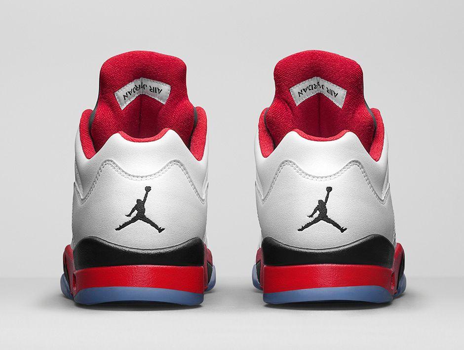 3d9c4e7f280e ... Buty męskie Nike AIR JORDAN 5 RETRO Low FIRE RED 819171-101