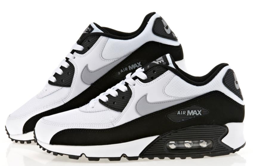 uk availability 79083 c7ebc ... Buty damskie Nike Air Max 90 biało-szaro-czarne ...