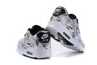 Buty damskie Nike Air Max 90 biało-szaro-czarne w kwiaty