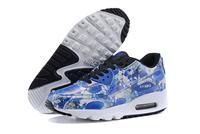 Buty damskie Nike Air Max 90 biało-niebiesko-czarne w kwiaty