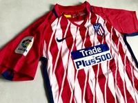 Dziecięcy zestaw piłkarski ATLETICO MADRYT NIKE Home 17/18 (koszulka+spodenki+getry) #7 GRIEZMANN